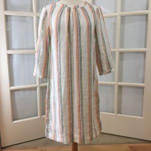 NWOT Boden/Katie Linen Dress Multi Stripe Size M